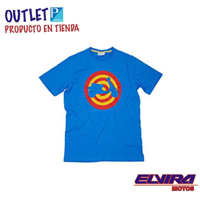 Camiseta Hombre Target Diana Vespa Azul
