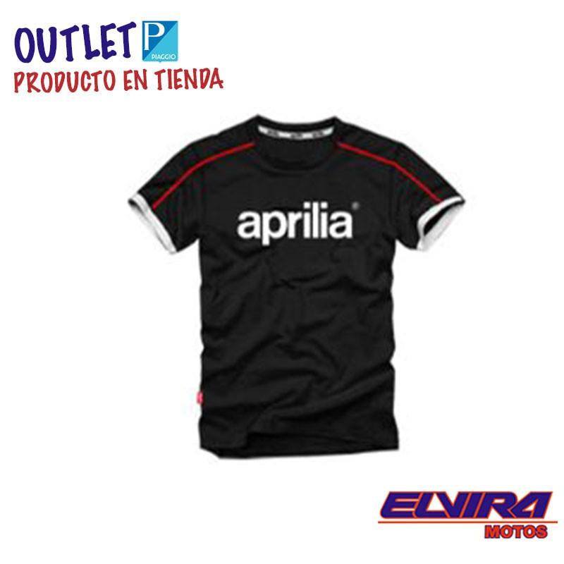 Camiseta Hombre Logo Aprilia 13 Negro
