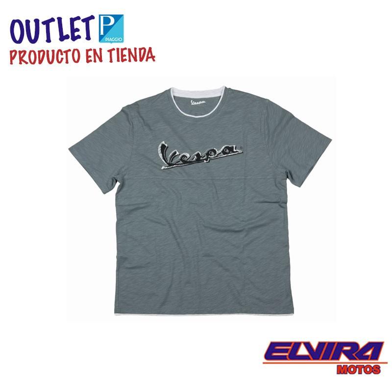 Camiseta Hombre Original Vespa Gris