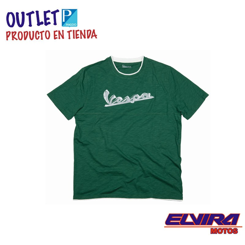 Camiseta Hombre Original Vespa Verde
