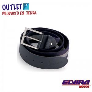 Cinturón de Loneta y eco-piel Negro y Gris