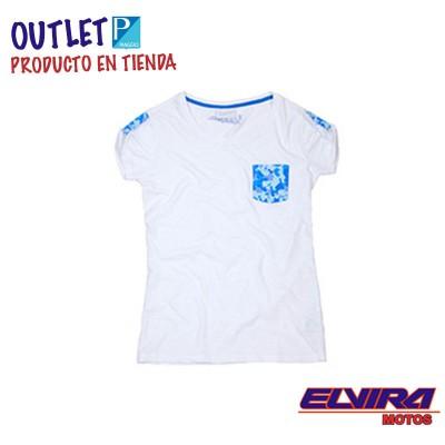 Camiseta de Mujer Bolsillo - Camuflaje Vespa Blanco