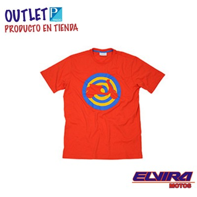 Camiseta Hombre Target Diana Vespa Rojo