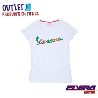 Camiseta de Mujer Floreada Vespa Blanco