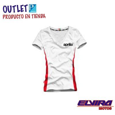 Camiseta de Mujer Logo Aprilia13 Blanca