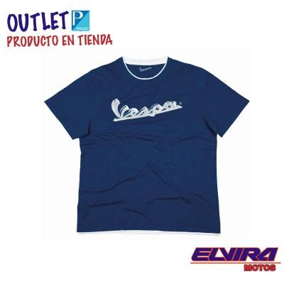 Camiseta Hombre Original Vespa Azul