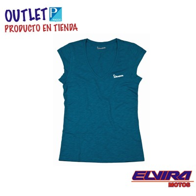 Camiseta de Mujer Original Vespa Azul