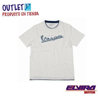 Camiseta Hombre Original Vespa Blanco