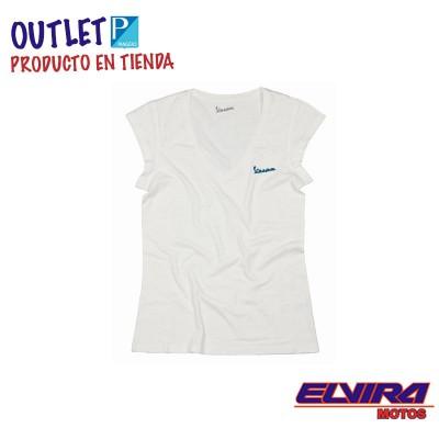 Camiseta de Mujer Original Vespa Blanco