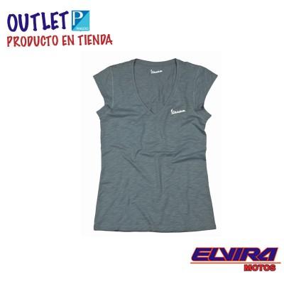 Camiseta de Mujer Original Vespa Gris