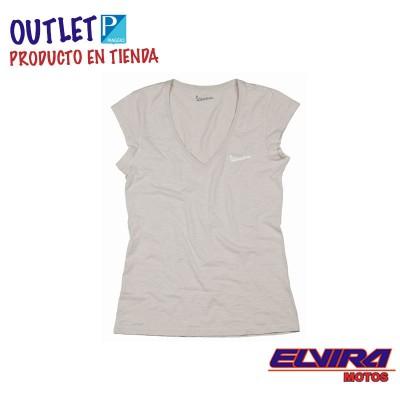 Camiseta de Mujer Original Vespa Gris Tortola