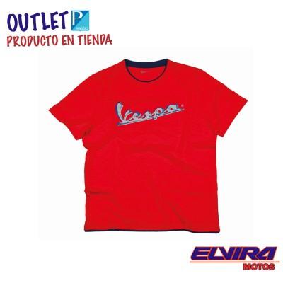 Camiseta hombre Original Vespa Rojo