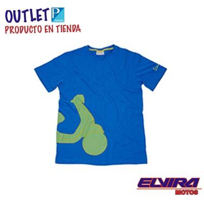 Camiseta Hombre Shape Estampada Vespa Azul