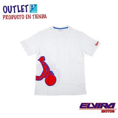 Camiseta Hombre Shape Estampada Vespa Blanco