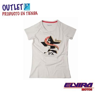 Camiseta de Mujer Star Vespa Gris Tortola