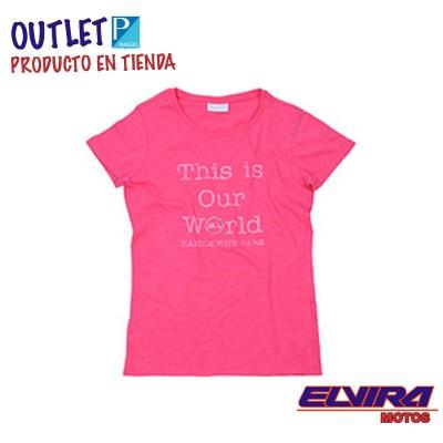 Camiseta de Mujer Thisourworld Vespa Rosa