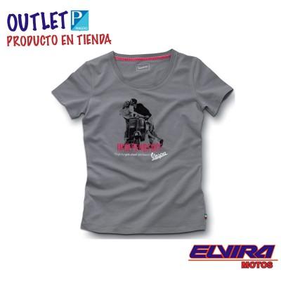 Camiseta de Mujer Estampada -Vespa