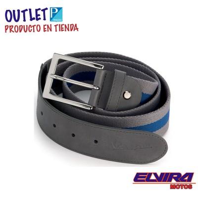 Cinturón de Loneta y Eco Piel Gris y Azul